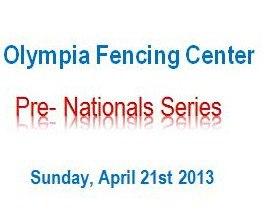 Pre Nationals Fencing Tournament